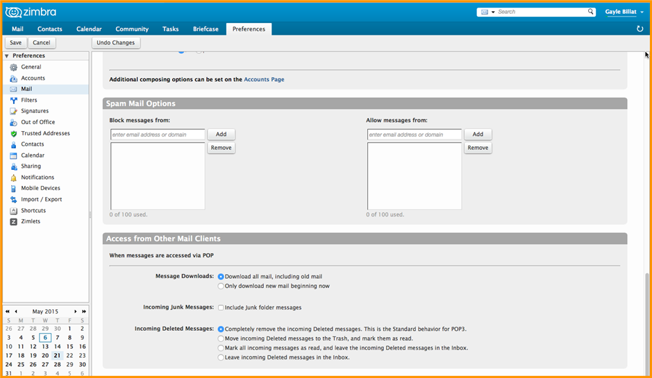 Did You Know? Change Your Zimbra Mail Preferences - Zimbra