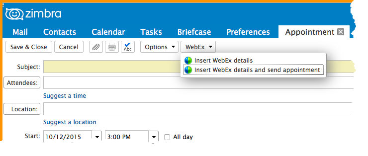 Did You Know: The WebEx Zimlet - Zimbra : Blog